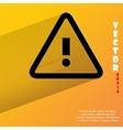 Danger exclamation mark flat modern web button vector