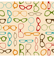 Seamless retro color pattern with glasses vector