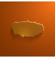 Orange eco glossy glass cloud icon vector