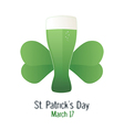 Saint patrick s day green beer vector