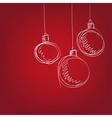 Christmas balls - hand drawn vector