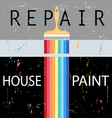 Repair with paint brush vector