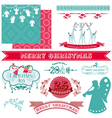 Scrapbook design elements - vintage christmas vector