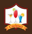 Cocktail design vector