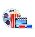 Cinema design elements vector
