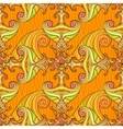 Orange seamless abstract hand-drawn pattern vector