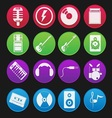 Band icon gradient style vector