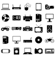 Collection flat icons eectronic devices symbols vector