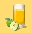 Full glass of apple vector