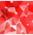 Valentines day modern abstract background with red vector