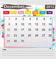 Calendar december 2013 vector