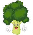 Cartoon broccoli giving thumbs up vector