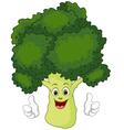 Cartoon broccoli giving thumbs up vector