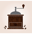 Wooden coffee grinder eps10 vector