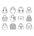 Collection of female bags vector