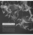 Abstract mesh background futuristic vector