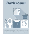 Bathroom flat interior decor infographic vector