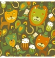 Seamless stpatricks day pattern with cats vector
