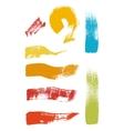 Grunge brush stroke set vector