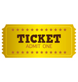 Retro gold coupon isolated on white vector
