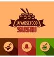 Flat template of sushi bar menu vector