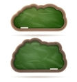 Blank green blackboard cloud set eps 10 vector