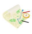 Map of the city on a white background vector