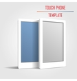 Touch phone template vector