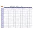 Planning 2014 spanish vector