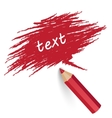 Pencil writes text vector