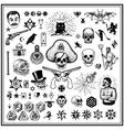 Russian criminal tatoos vector