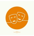 Comic and tragic theatrical mask vector
