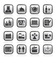 Restaurant cafe and bar icons vector