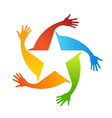 Hand stars logo vector