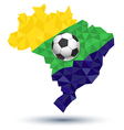Abstract brazil football vector