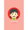 Woman cartoon theme business card vector