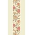 Vintage brown pink flowers vertical seamless vector