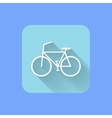 Bicycle flat design icon eps vector