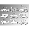 Different types of transportation vector