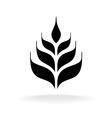 Wheat icon simple black logo silhouette vector