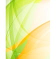 Abstract green wave modern eco template vector