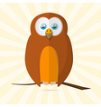 Owl retro paper vector