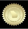 Gold star label georgia vector