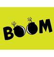 Boom design vector