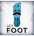 Mr foot vector