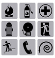 Fire icons design vector