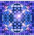 Blue shining disco ball vector