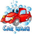 Car wash cartoon vector