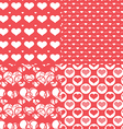 Valentine hearts seamless pattern abstract backgr vector