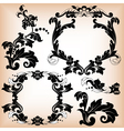 Stylized floral pattern and frame vector